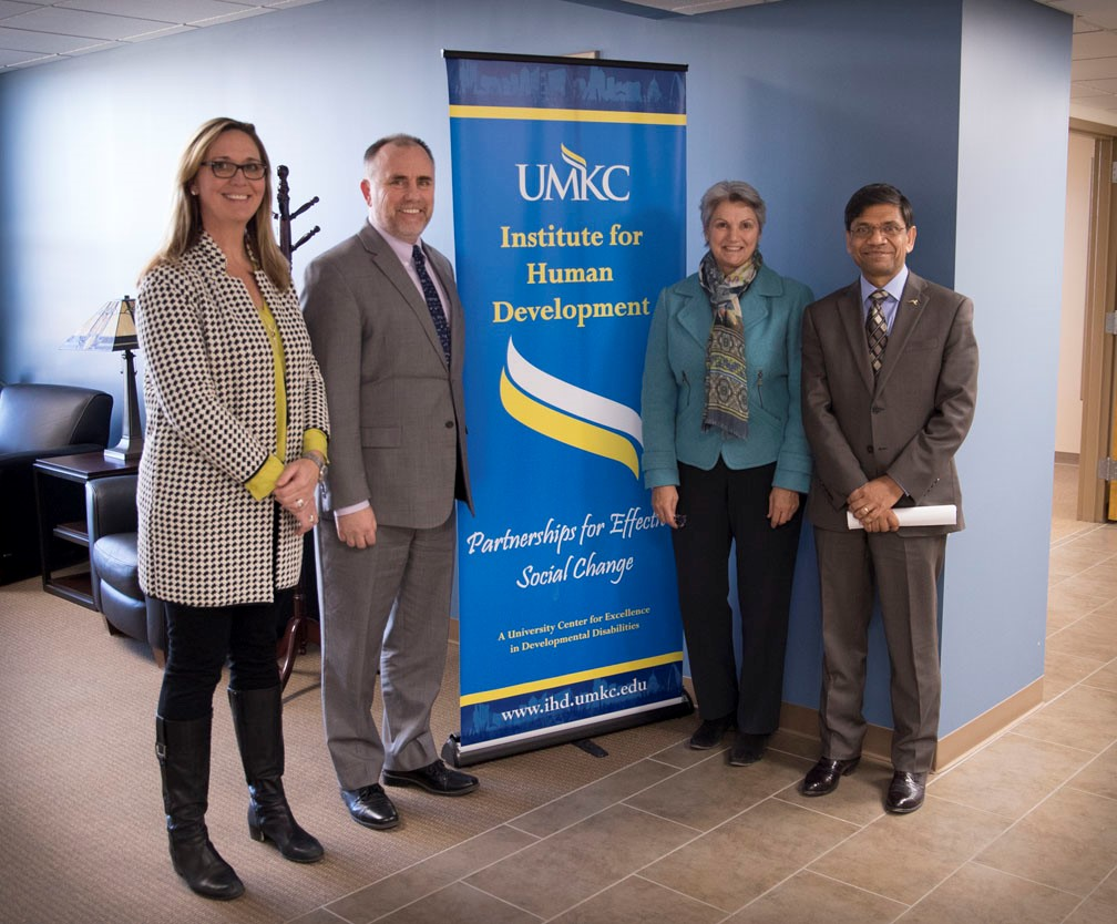 George and Sheli with Chancellor Agrawal and Provost Bichelmeyer